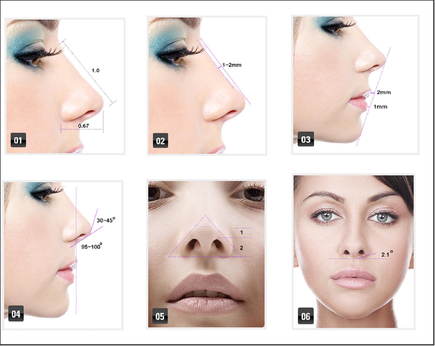 好看的鼻形效果图